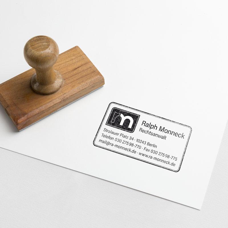 Stempel Rechtsanwalt Monneck
