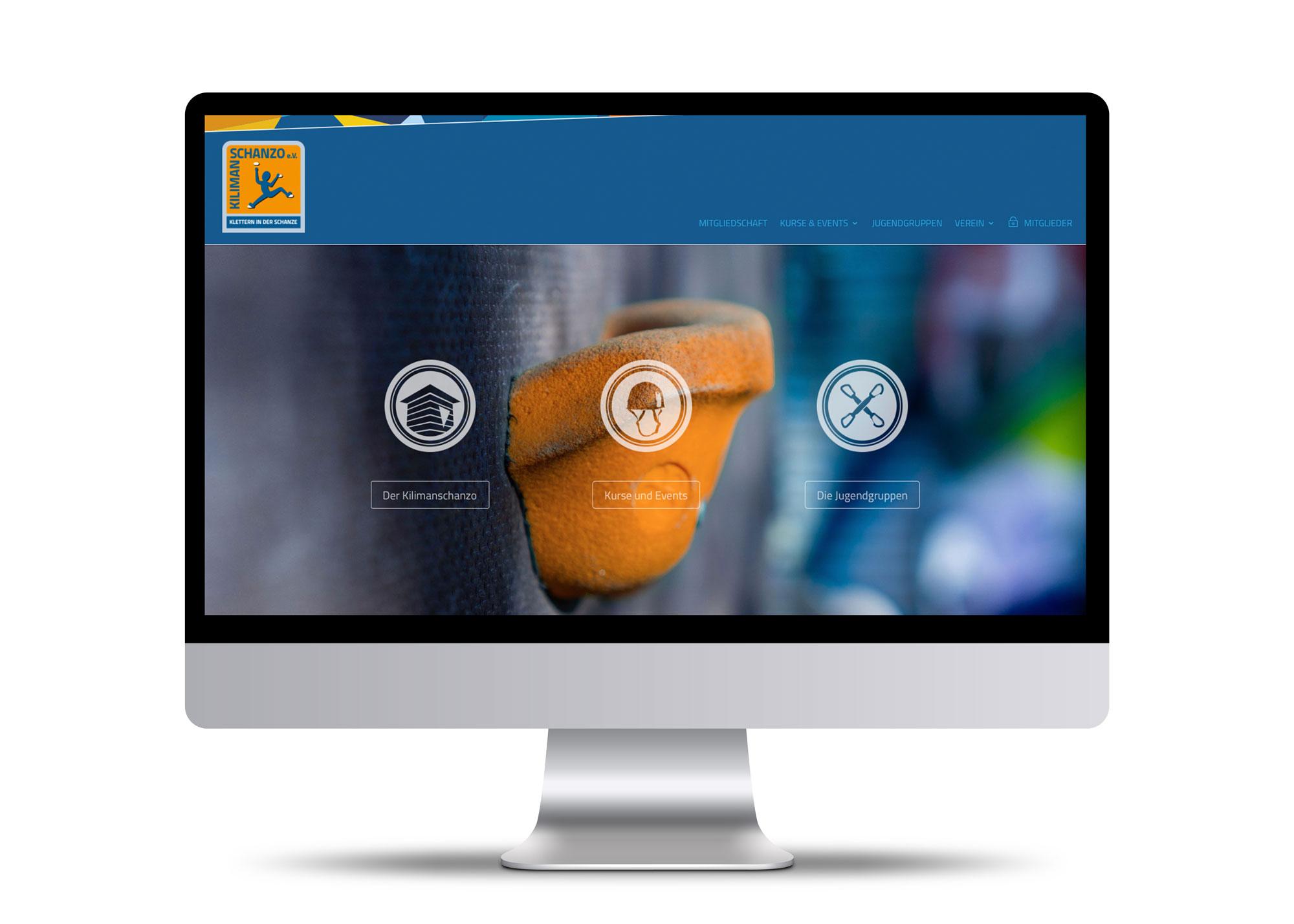 Monitor mit Webseitenansicht